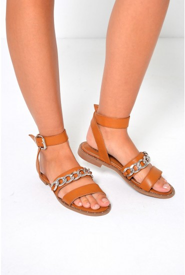 Quinn Strappy Sandal in Tan