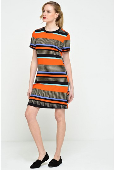 Talia Striped Tunic Dress in Red