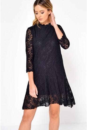 Mia Lace Dress in Black