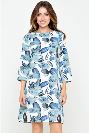 Carrie Leaf Tunic in Blue