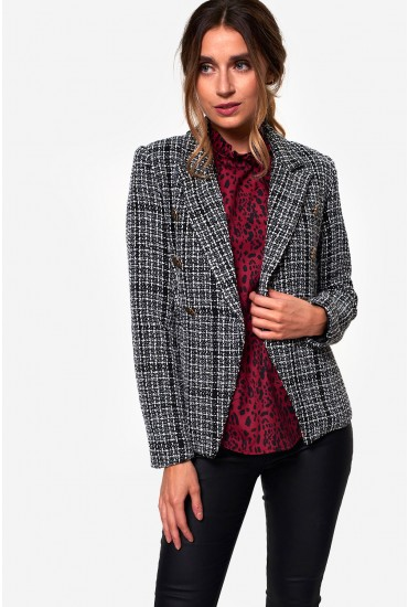 Amanda Tweed Blazer in Black