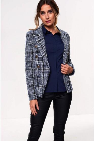 Amanda Tweed Blazer in Blue