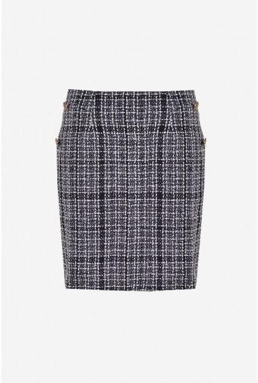 Amanda Tweed Skirt in Black