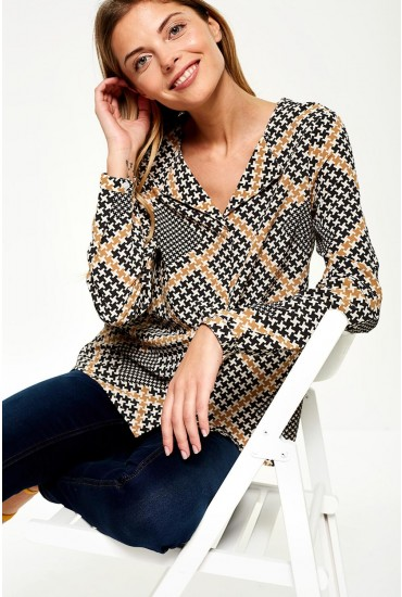 Andra Printed Shirt in Black