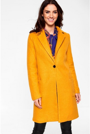 Astrid Oversized Coat in Mustard