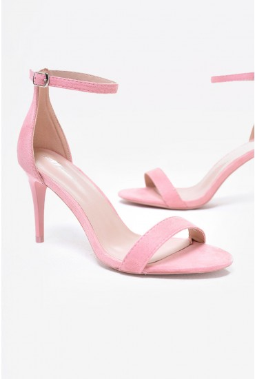 Lori Ankle Strap Sandals in Blush