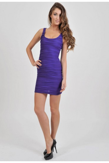 Edith Textured Finish Tank Dress
