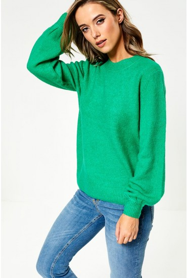 Belina Knit Jumper in Green