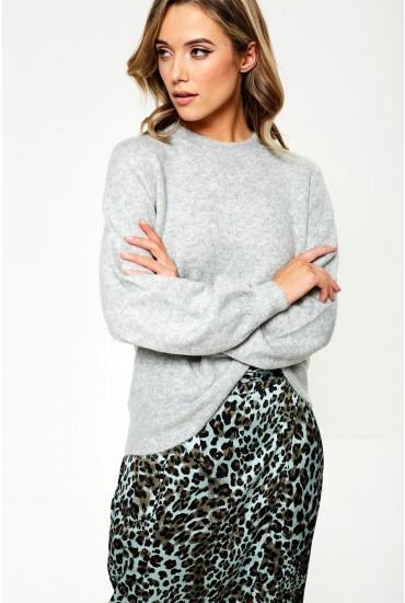 Belina Knit Jumper in Light Grey