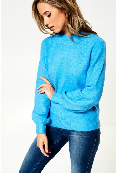 Belina Knit Jumper in Sky Blue