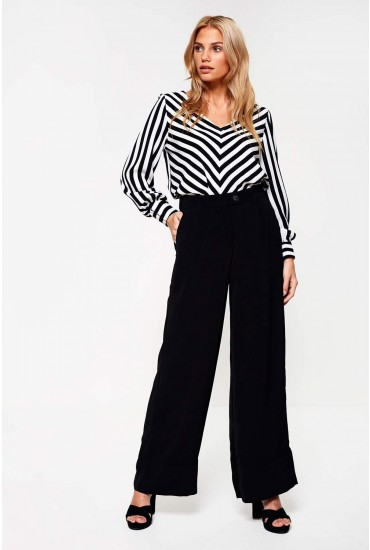Bella Wide Leg Trousers in Black