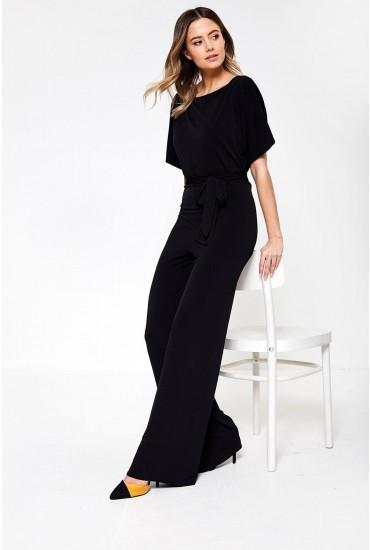 Chiaki Belted Jumpsuit in Black