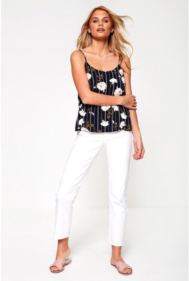 Bodien Straight Ankle Jeans in White