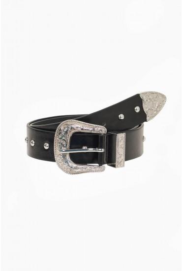 Nila Buckle Belt in Silver