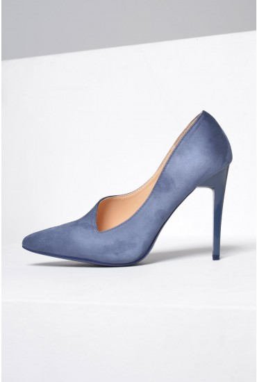 Ruby Court Shoes in Blue Suede