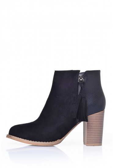 Eris Ankle Boot in Black Suede