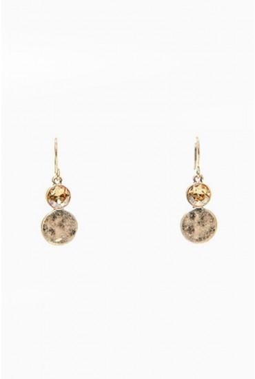Callie Gold Diamante Earring