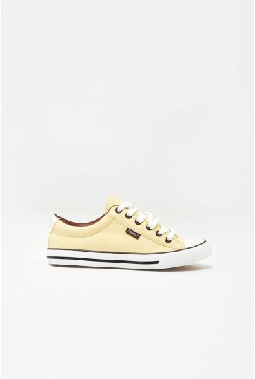 Kye Canvas Trainers in Yellow