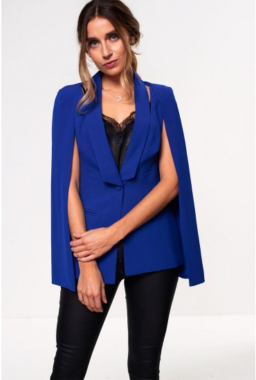 Lavish Alice Cape Blazer in Blue