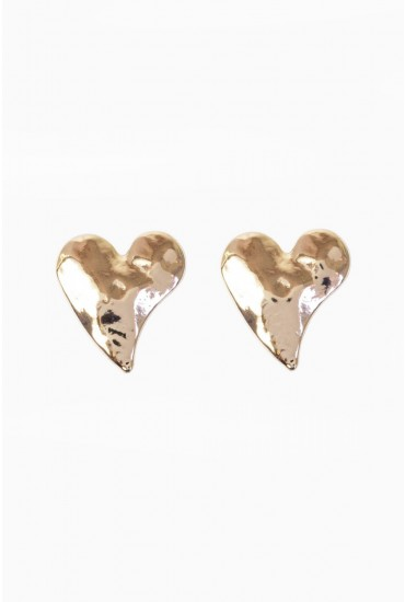Carrie Heart Earring in Rose Gold