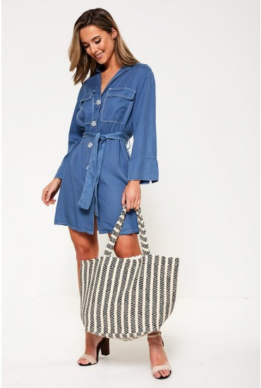 Carrie Woven Tote Bag