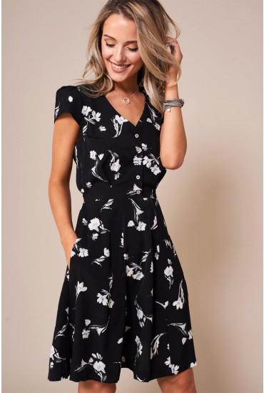 Cathleen lily Print Tea Dress