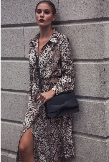 Celine Snake Print Shirt Dress