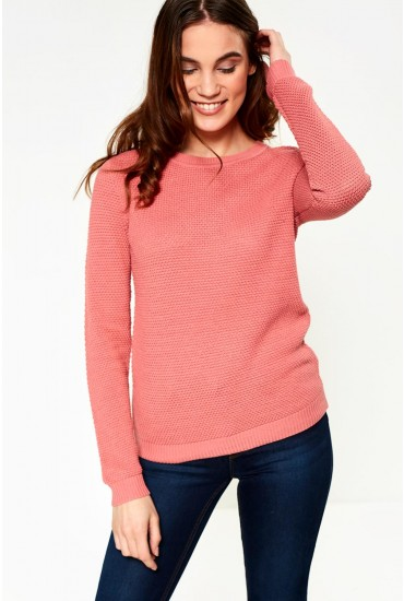 Chassa Long Sleeve Knit Top in Apricot