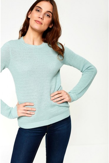 Chassa Long Sleeve Knit Top in Mint