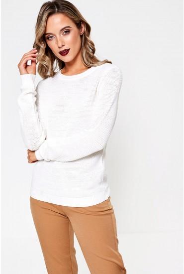 Chassa L/S Knit Top in Cream