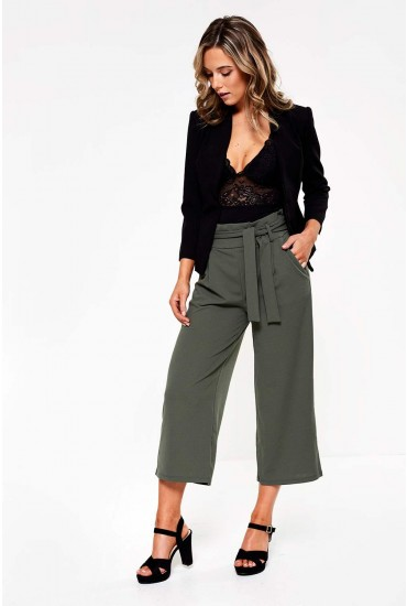 Tailor Culottes in Khaki