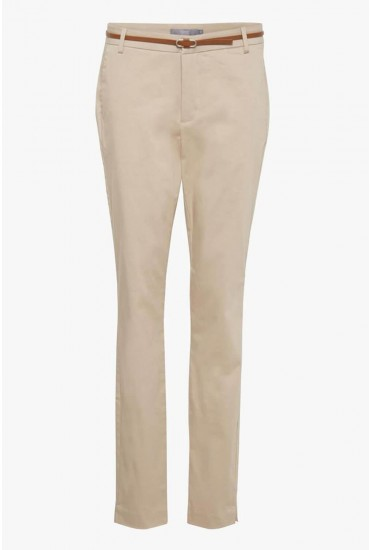 Days Belted Cigarette Trousers in Beige