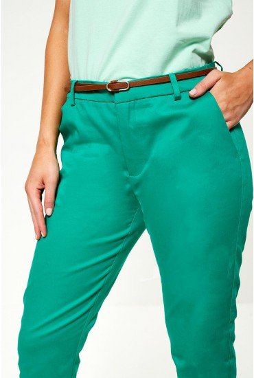 Days Cigarette Trousers in Green