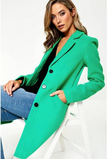 Cindy Single Breasted Coat in Green