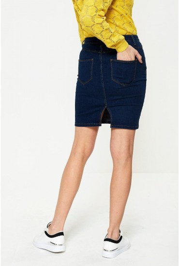 Commit Short Denim Skirt