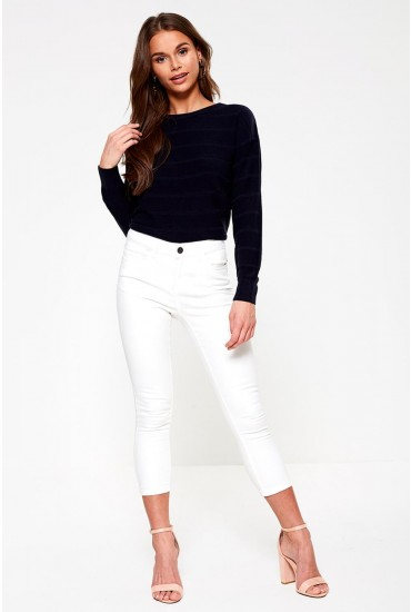 Lucy Cropped Regular Jeans in White