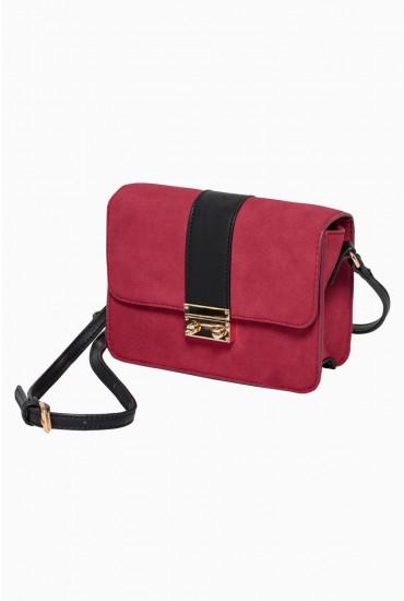Skala Crossbody Bag in Burgundy