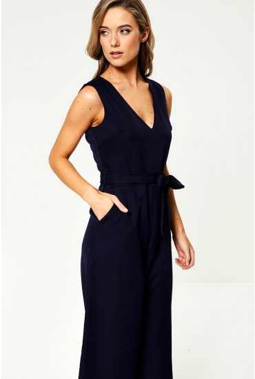 Donna Culotte Jumpsuit in Navy