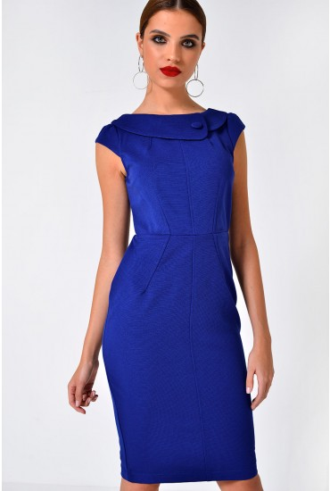 Jud S/S Bodycon Dress in Blue