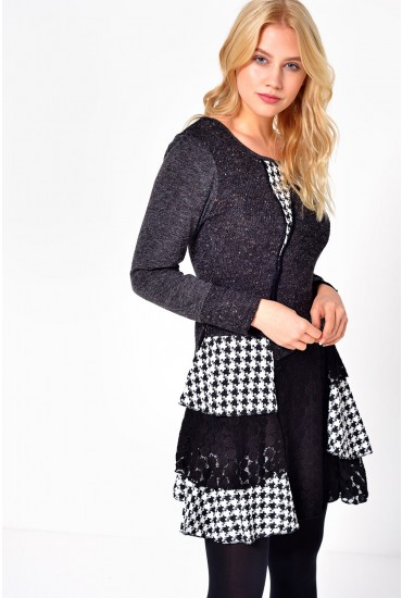 Stacey Patchwork Dress in Grey