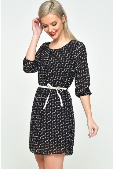 Joan Chiffon Long Sleeve Dress