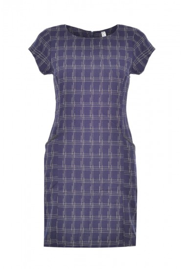 Lucille Check Tunic in Navy