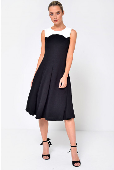 Sissy Fit to Flare Dress in Black