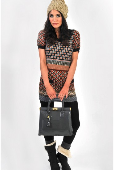 Norma Printed Knit Dress
