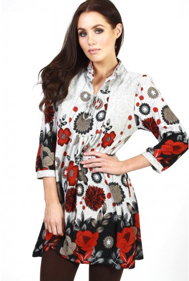 Vera Knitted Floral Dress