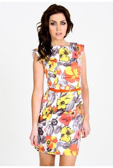 Danielle Floral Tailored  Dress