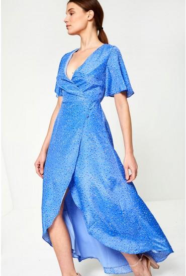 Darcy Midi Dress in Light Blue