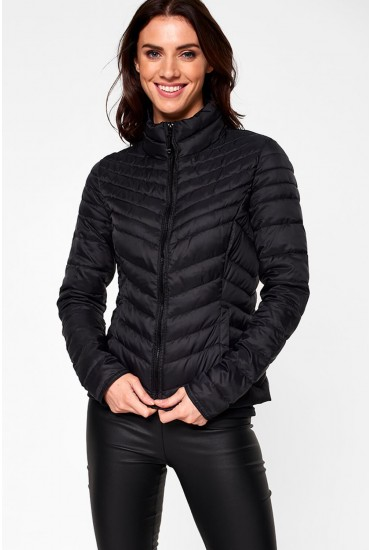 Demi Nylon Jacket in Black
