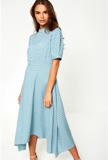 Diam Midi Dress in Mint