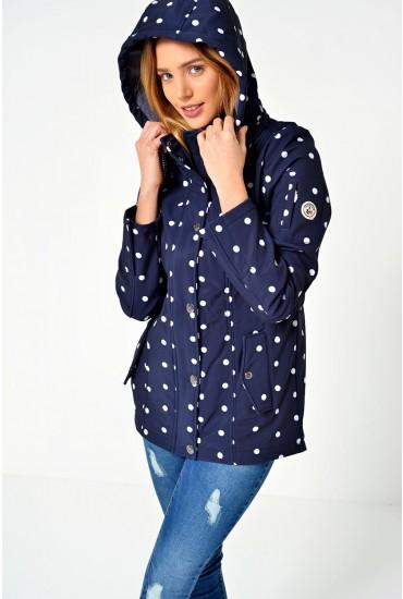 Lina Polka Dot Lined Jacket